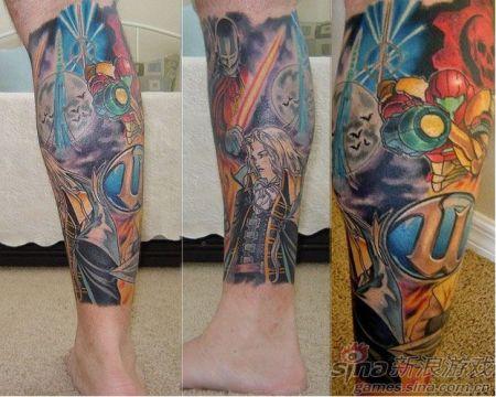 右腿上的纹身