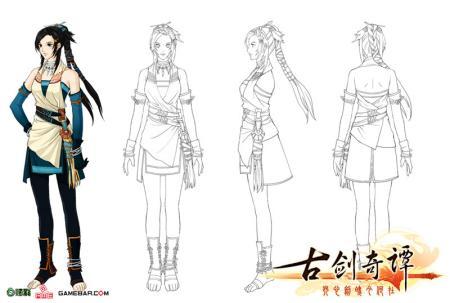 游戏人物设计三视图