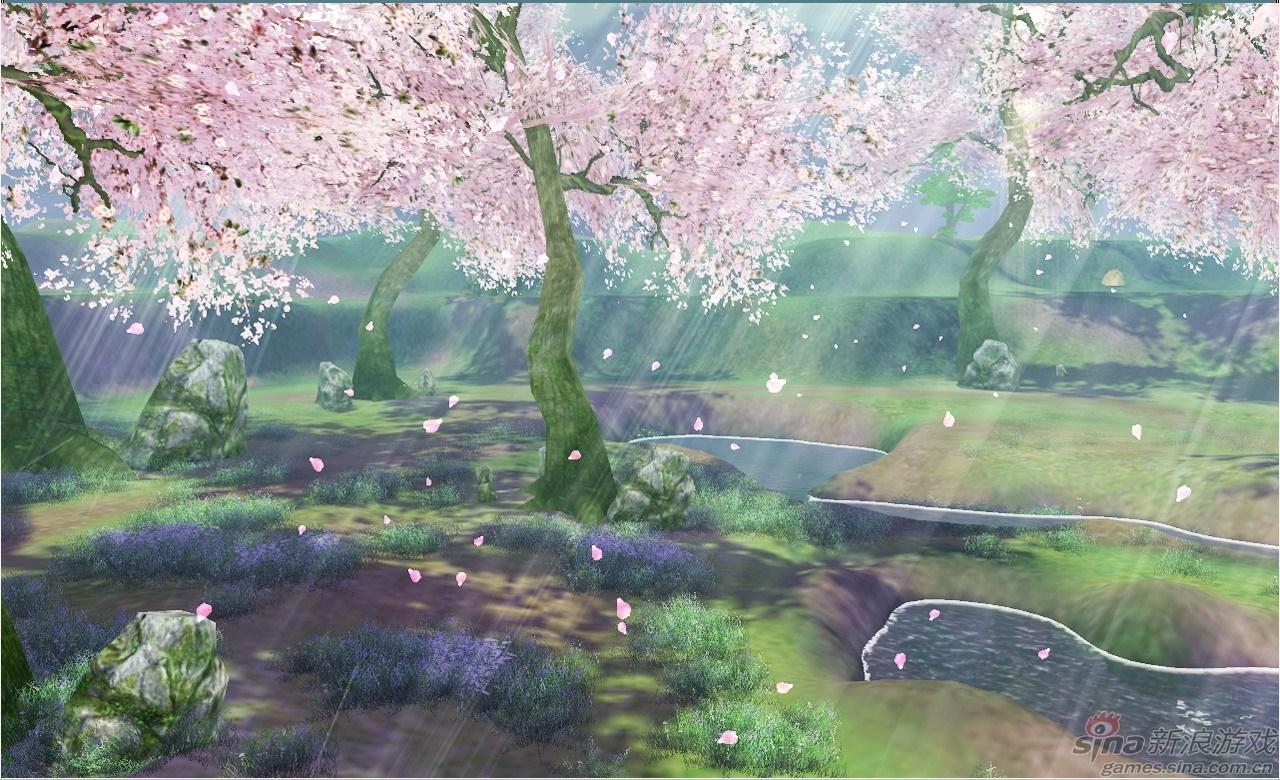 桃花林手绘分享展示