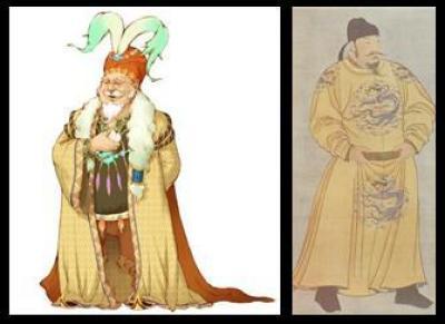 古代衣服红花纹