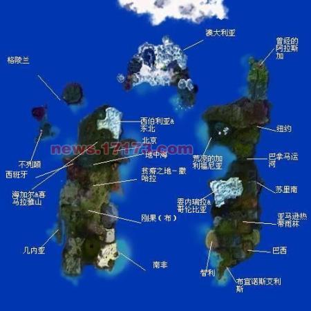 强人解析 教你看《魔兽世界》大地图