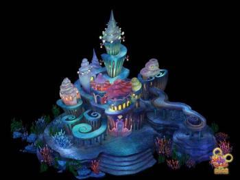 精致海底宫殿的小美人鱼片区图片