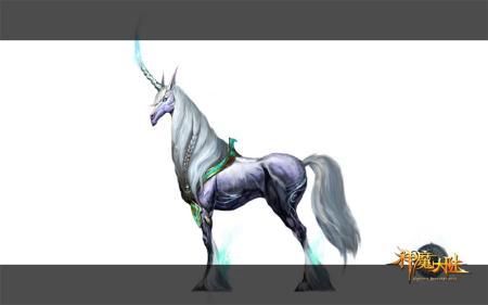 独角兽是西方奇幻作品中经常出现的动物,它们可爱,温顺.