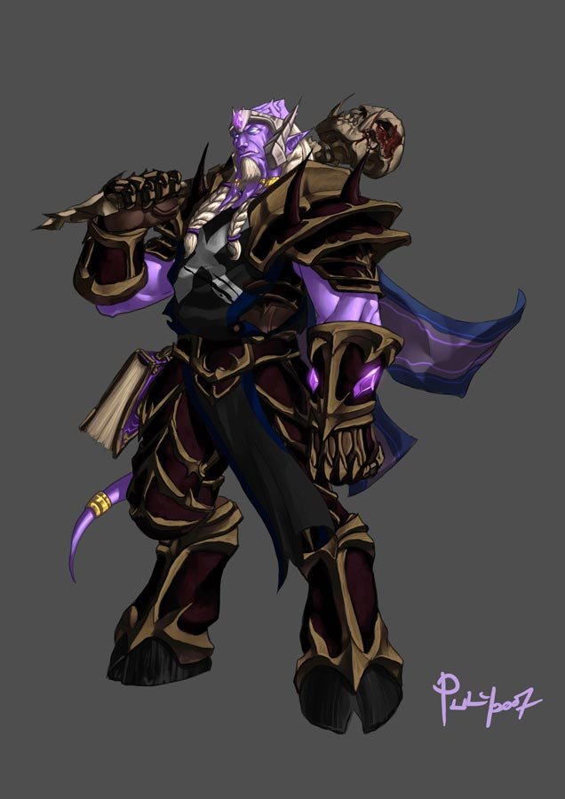 World of warcraft undead bones an night elf