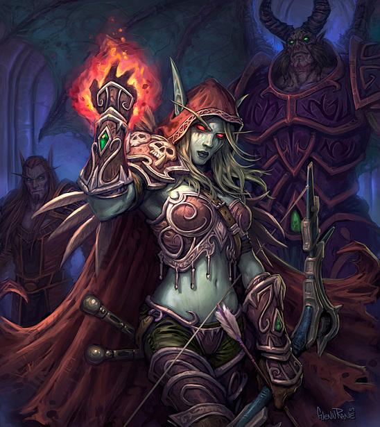 魔兽世界亡灵种族原画