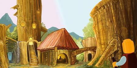 卡通农村木屋图片