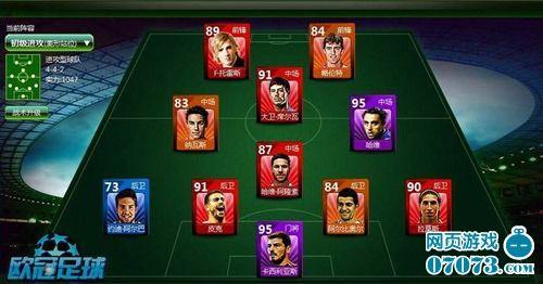 豪门利器《欧冠足球》球员位置解析_网页游戏