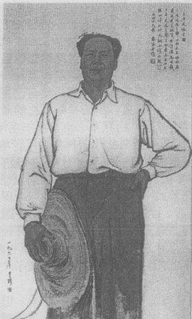 1960年,国画《主席走遍全国》