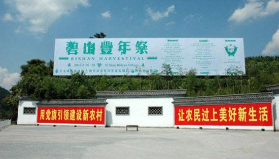 2011年安徽渔亭镇的碧山丰年祭宣传广告牌