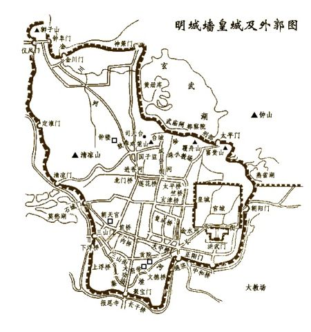 明代南京城墙地图.