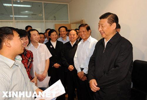 9月9日,习近平前往北京师范大学看望一线教师