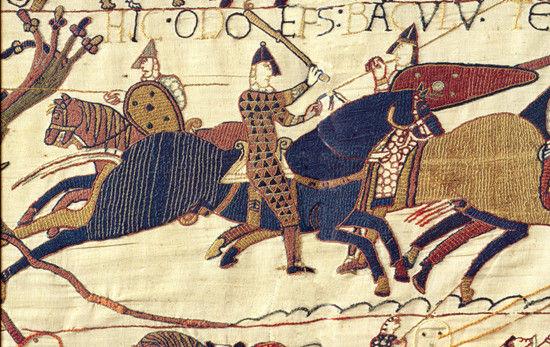 贝叶挂毯上的征服者威廉一世。