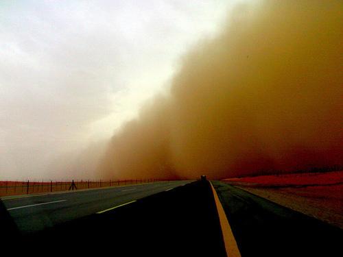 我在沙特拍沙尘暴(组图)