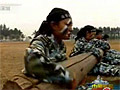 实拍中国海军陆战队魔鬼式训练画面