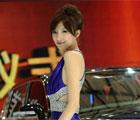 上海车展高贵典雅型美女车模