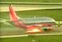 美客机着陆时起火