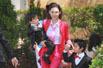 张柏芝参加弟弟婚礼