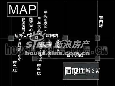 后现代城五期 交通图