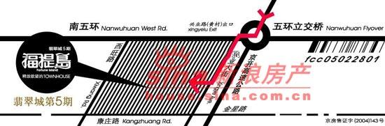 福提岛(翡翠城五期) 交通图