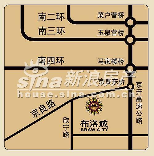 布洛城 交通图
