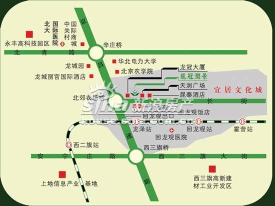 龙冠润景 交通图