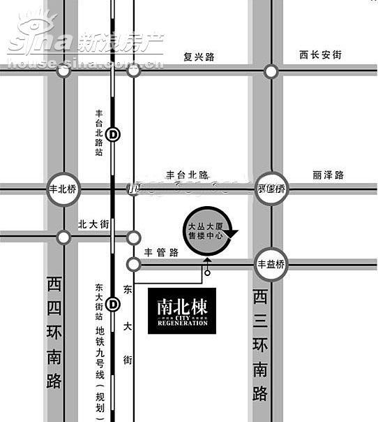 南北栋 交通图 位置图