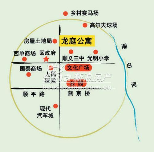 龙庭公寓 交通图 位置交通示意图