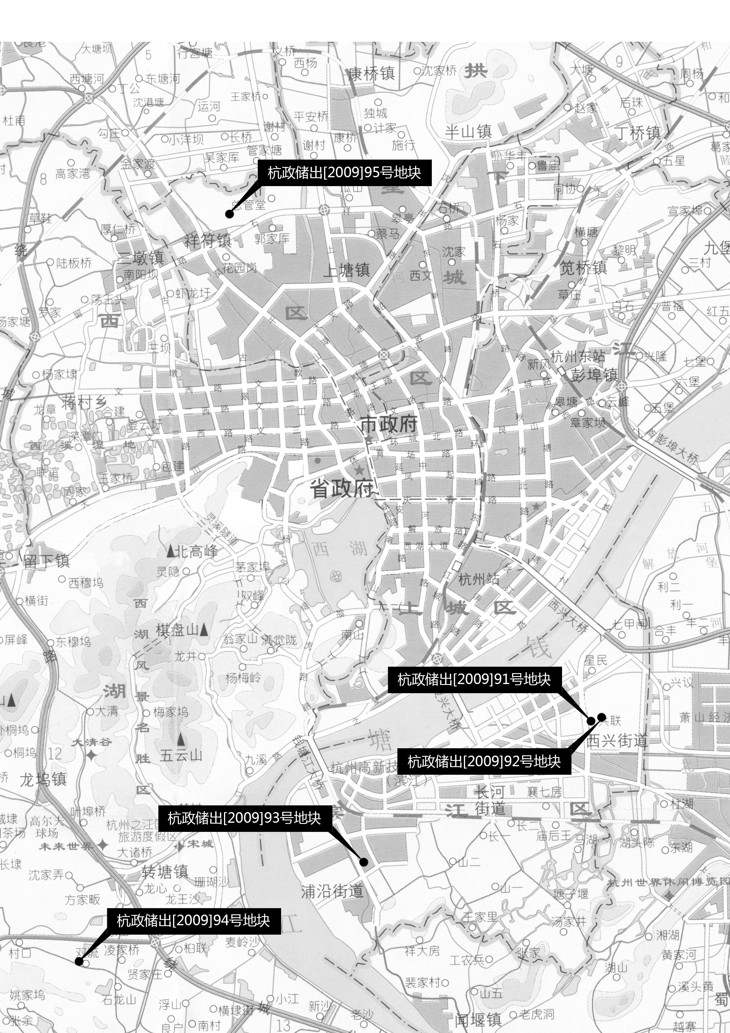 2009年12月24日杭州土地出让信息 城东首推两宅地试水