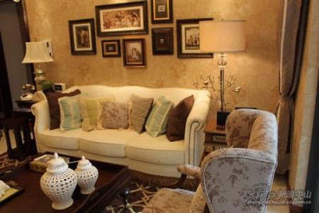万科 90方 客厅 欧式家具