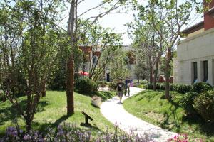 乐居网友漫步项目园林