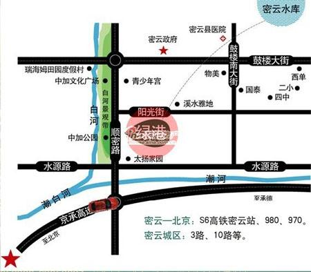 图为铁建绿港位置图