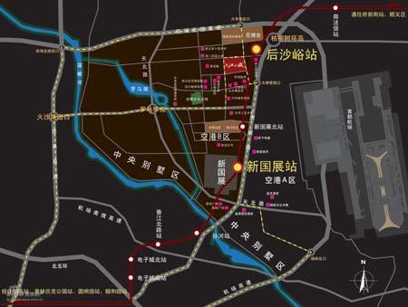 图为中景江山赋位置图