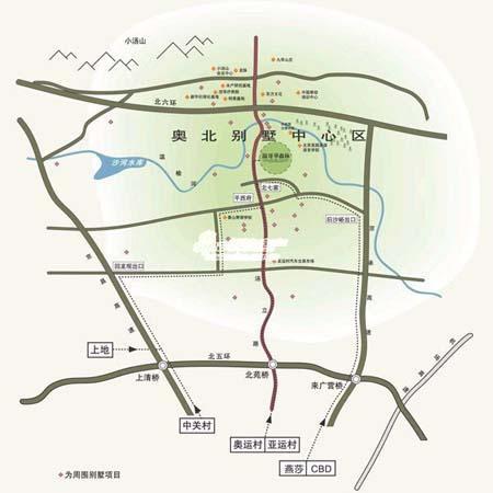 图为温哥华森林北郡位置图