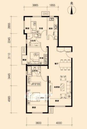昌平金隅万科城精装85-125平2-3居户型图解析