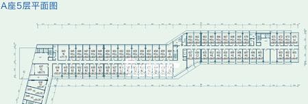图为东亚上北鑫座项目A座5层平面图