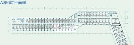 图为东亚上北鑫座项目A座6层平面图