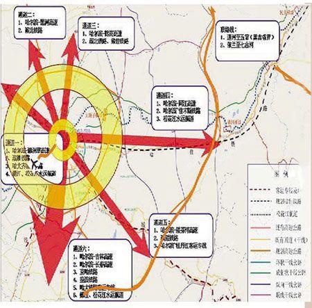 哈尔滨城区规划图