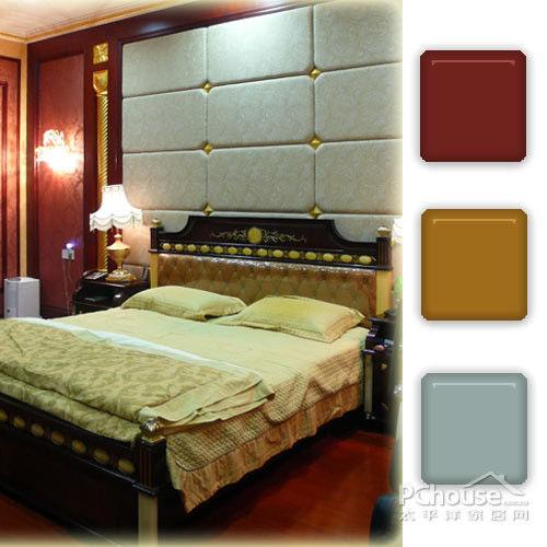正文     part 2:高贵典雅简欧风卧室   case1:紫檀色+金黄色+灰蓝色