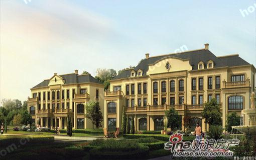 梦泉风景以精致的新古典主义欧式建筑,周边绿地自然延伸到建筑底层