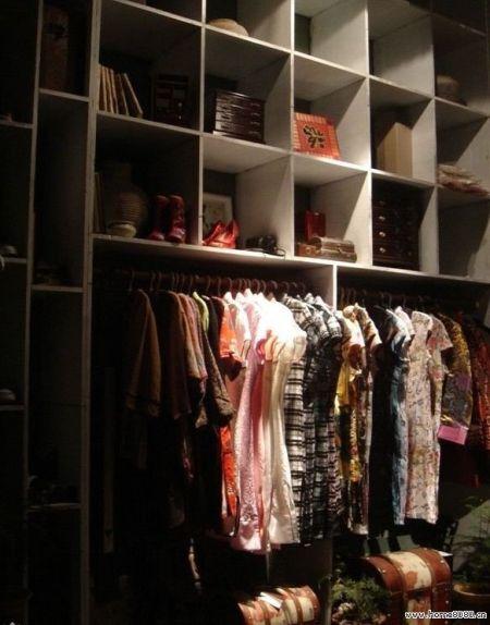 逍遥津; 中式复古服装店装修效果图; 服装展厅手绘效果图图片分享