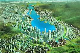 梅溪湖鸟瞰图