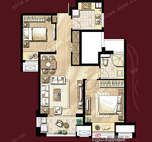 名仕雅筑 2房2厅1卫 建筑面积约85�O