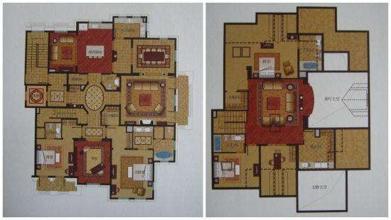 带顶层阁楼的四房豪华户型 03142 四层平面 总面积:约395.51㎡