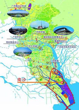 图三:南沙在广州的战略位置