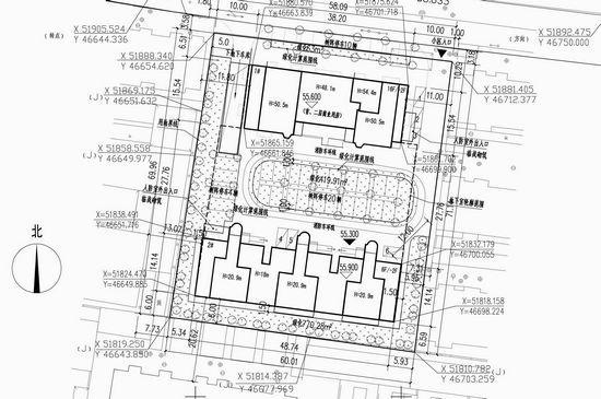 邯郸市箱体规划局公示顺和苑住宅小区总平面图多轴箱城乡cad图纸图片