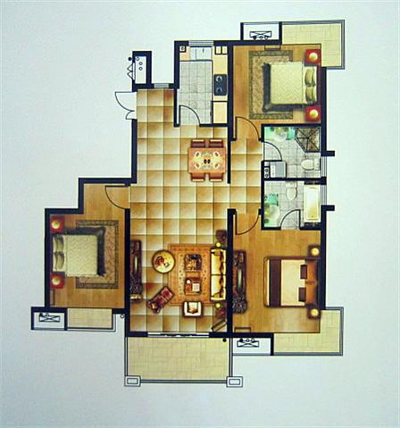 一百平米两层楼设计图展示图片
