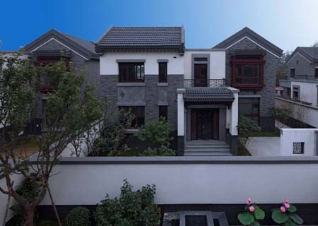 中式别墅北京院子:果岭上真正的文化大宅(图)