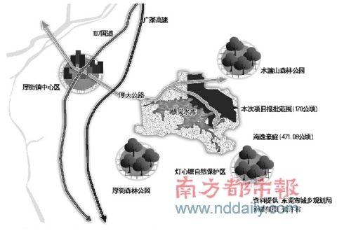 香港首富建的别墅区就在横岗水库旁_城市建设