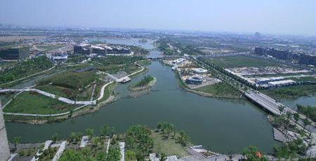 拥有百米一林 千米一湖美景的嘉定新城