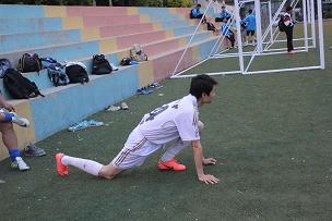 比赛开始前的热身运动